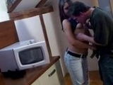 Lucky Boy Fucks His Dolly Girlfriend in The Kitchen