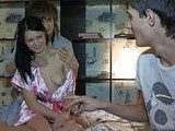 Young Teen Couple Made Hot Sex Party