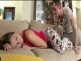 Awesome Hot Sleeping Teen Got Hard Fucking Awaking