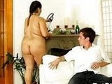 Plump Brunette Goes Dirty With Young Teen Boy