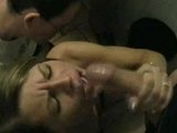 Blonde German Slut Facialized By The Group Of Men
