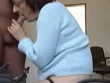 Slutty Granny Sucks Cock On Camera
