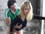 Hot Blonde Girlfriend Fucked In Public