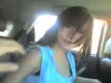 Tiny Asian Hottie Having Wild Sex In a Car