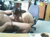 Asian Secretary Sucks Cock At The Office