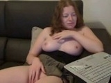 Cute Redhead Girlfriend Plays With Her Pussy On Webcam