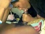Ebony Girl Gives A Nice Blowjob