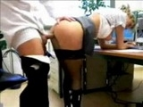 Sexy Blonde Secretary Caught Fucking In The Office