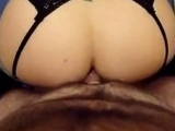 Housewife With Round Booty Rides A Hard Dick