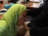 Arab Slutty Secretary Tries To Relax Her Angry Boss