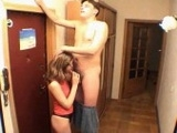Kinky Girl Gives A Blowjob To Next Door Neighbor