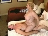 Amateur Blonde With Natural Big Tits Rides Her Man