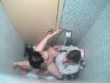 Amateurs Fucking In Public Toilet Caught By Security Cam