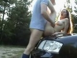 Young Couple Caught Fucking In The Parking Lot