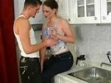 Sexy Amateur Couple Fucked in the Kitchen